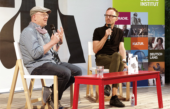 Timur Vermes a Michal Hvorecký na BRaK 2020