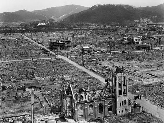 Hirošoma po výbuchu atómovej bomby